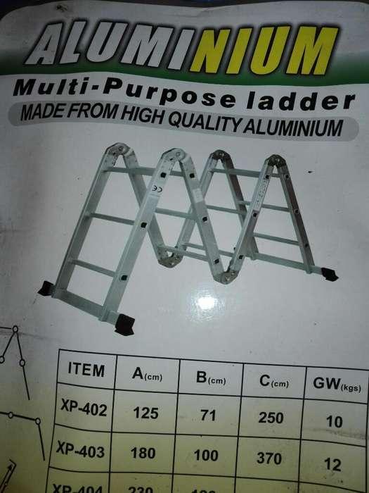 Escalera Aluminio Nueva