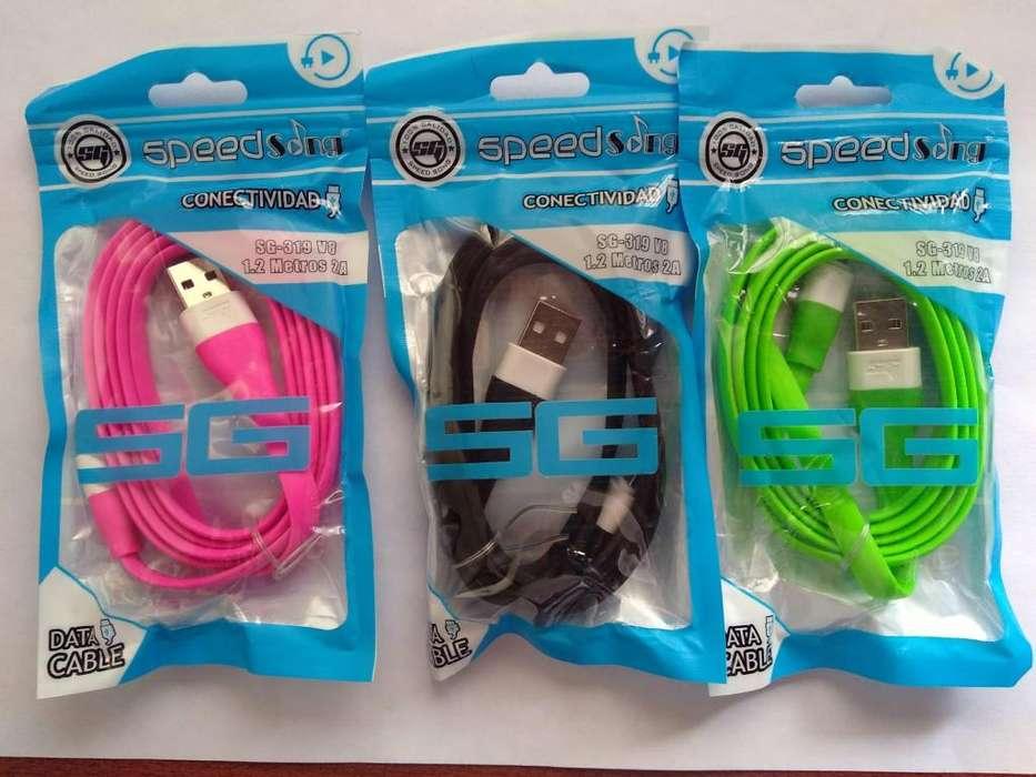 CABLES USB EN SILICONA PLANOS EQUIPOS ANDROID