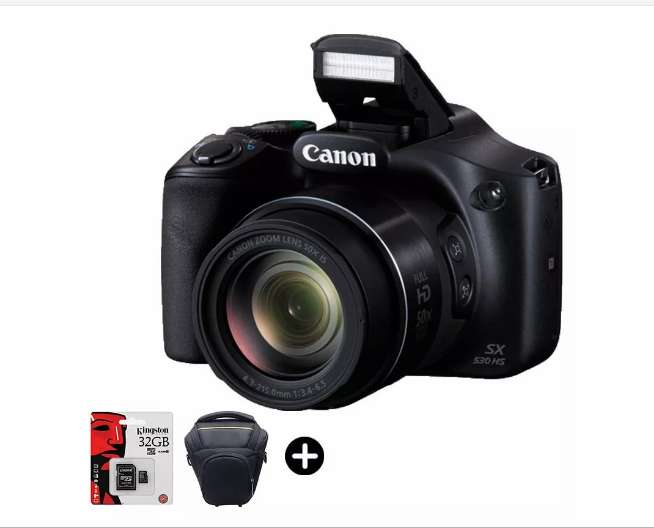 Canon Sx530 50x Full Hd Bolso Memoria 32gb