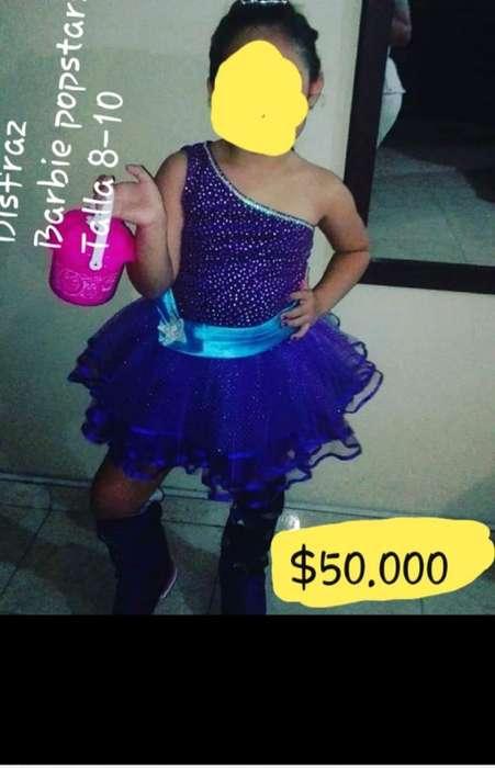 Disfraz Barbie Popstars Niña Talla 8-10