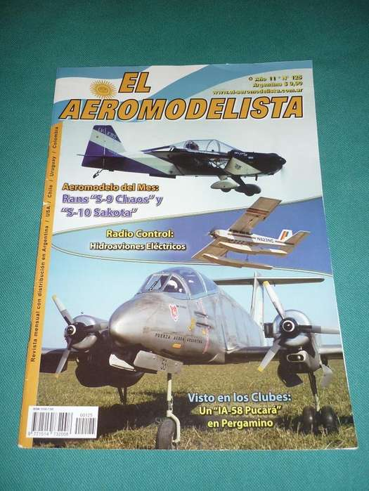 REVISTA EL AEROMODELISTA NRO 125 MARZO 2010 PUCARA AVIONES AEROMODELISMO