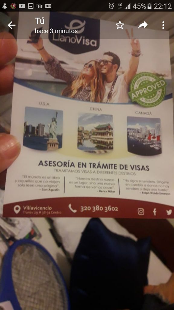 ASESORÍAS EN TRÁMITE DE VISAS