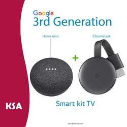 Google Smart TV Kit Home Mini Google Chromecast 3 Kit Domotica