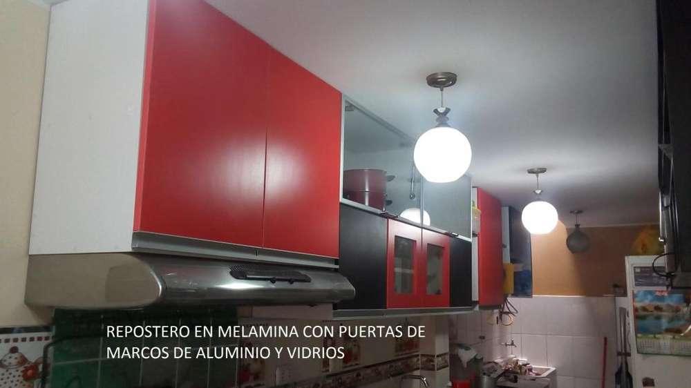 DISEÑOS DE MUEBLES DE COCINAS EN MELAMINA RH TROPICLZ. a Domicilios Lima y Provincias