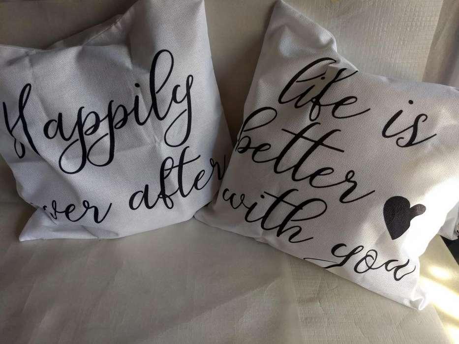 Set x2 Fundas para almohadones con frases