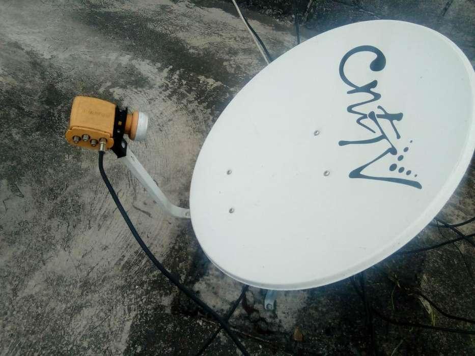 Antena Satelital Cnt en Perfecto Estado