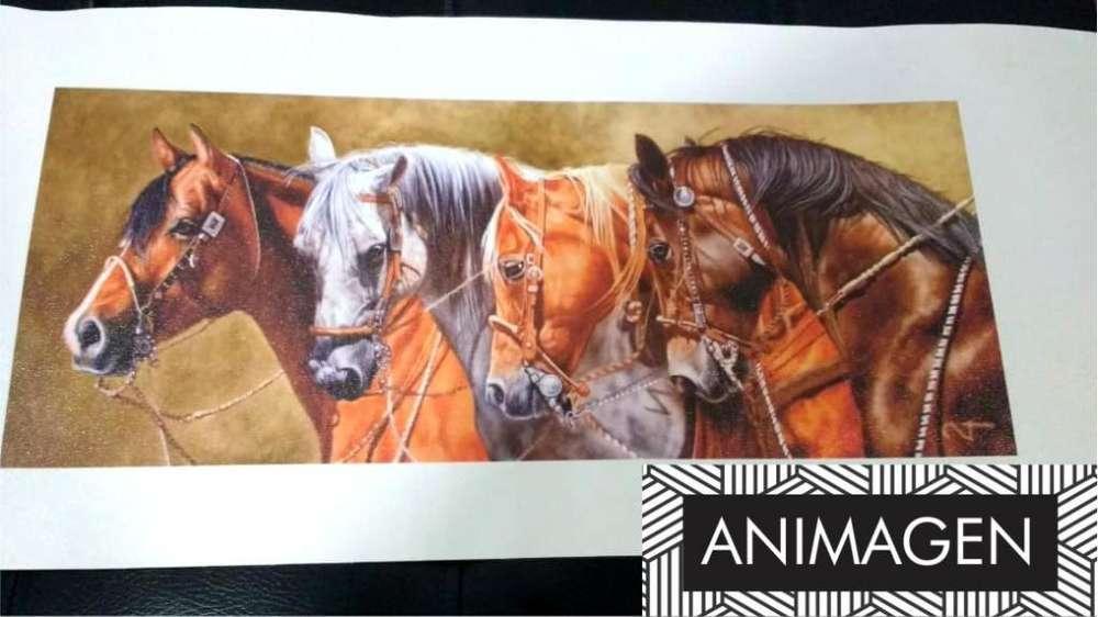 Cuadro decorativo de caballos 1991
