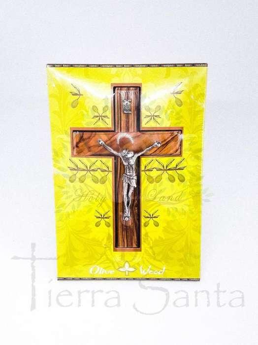 Crucifijo en Madera de Olivo traido de Jerusalén Tierra Santa