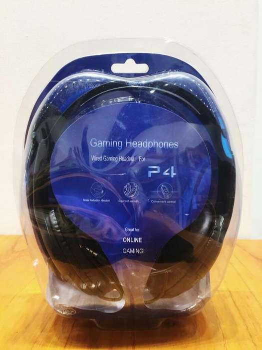 Auricular Gamer Cableado Ps4 Pc Celular