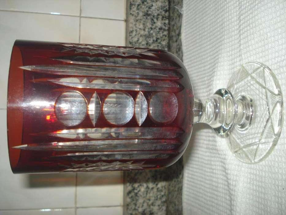 copon cristal bohemia 20 cm alto 10 cm ancho