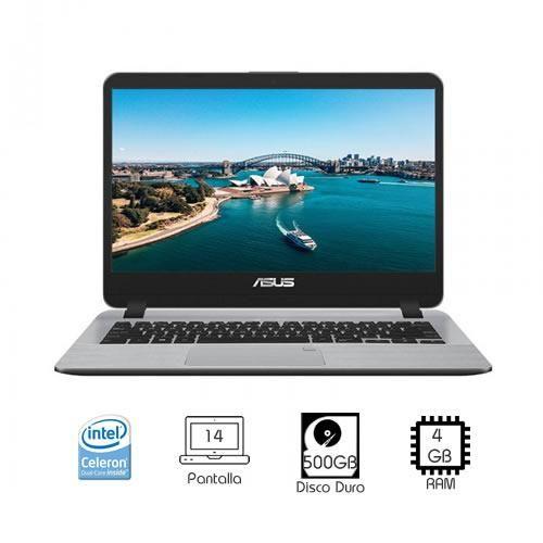 """Laptop ASUS X407M Intel Celeron N4000 4GB RAM 500GB 14"""""""