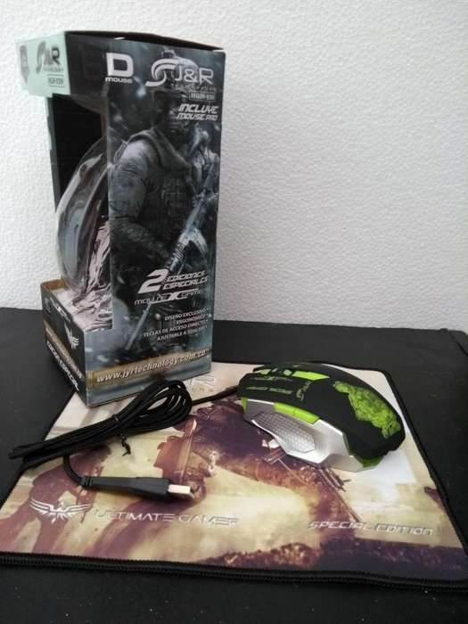 MOUSE Y PAD MOUSE JYR GAMER USB MGJR 039