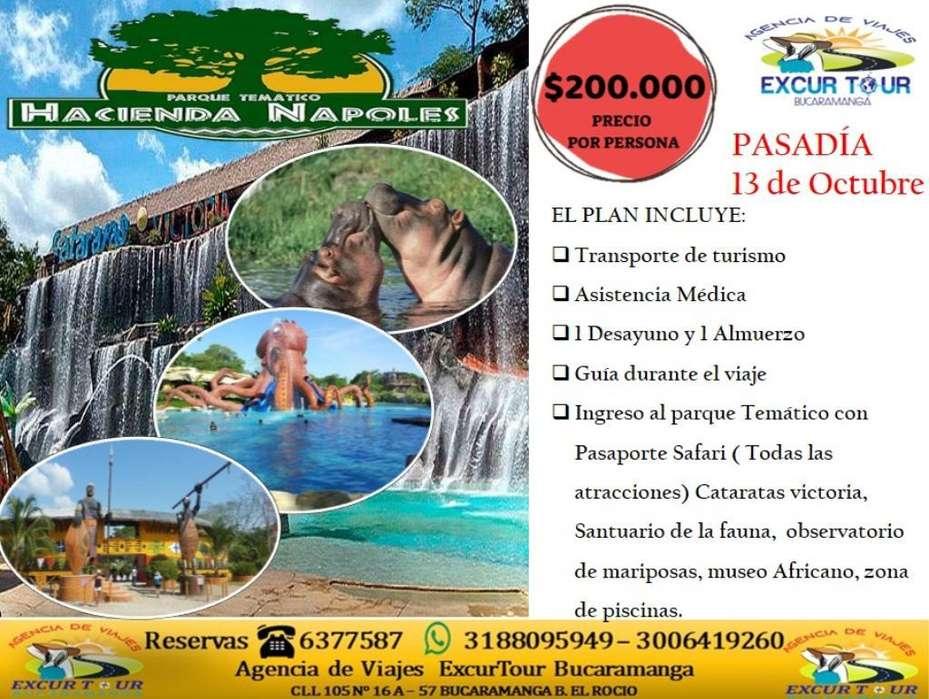 Tour Pasadia Hacienda Nápoles