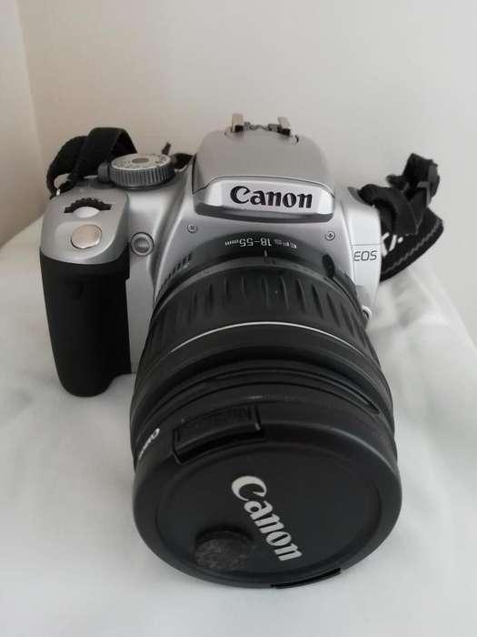 Canon Rebel Xti color plata
