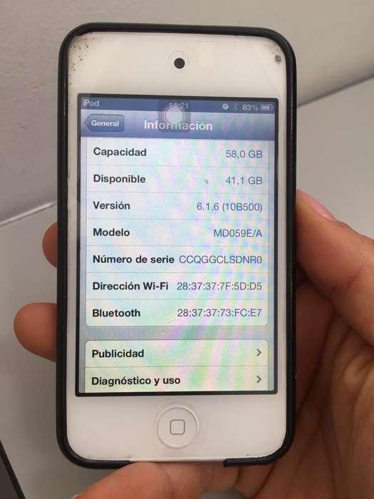 Ipod Touch 4 Gen 64 GB excelente estado