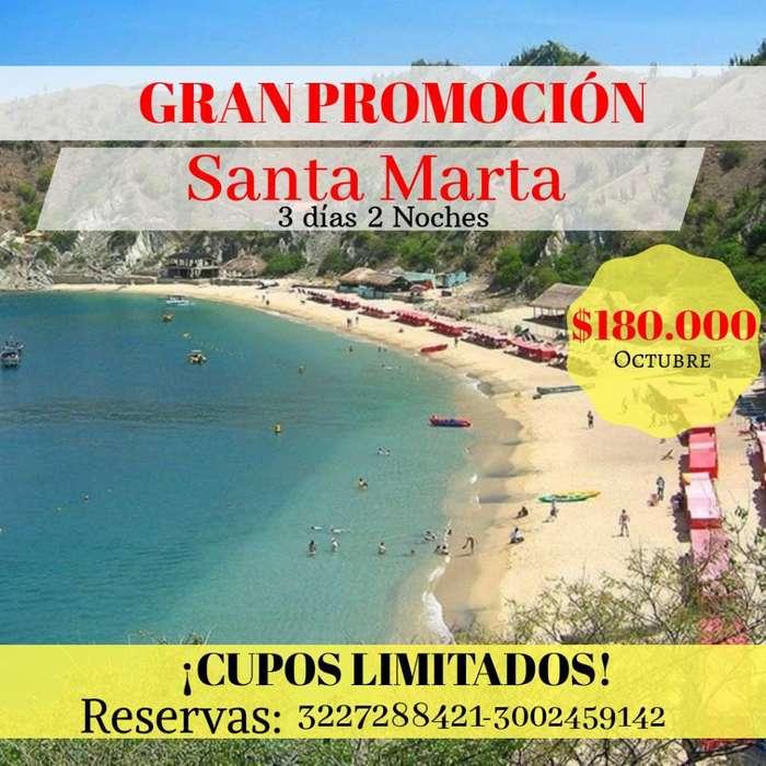 Oferta Tour Santa Marta Octubre