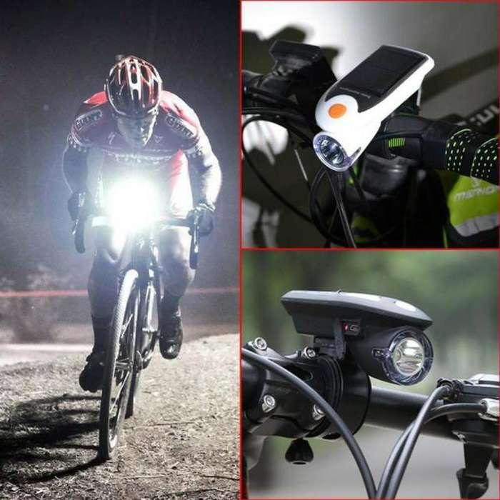 Linterna Solar Luz Led para Bicicletas