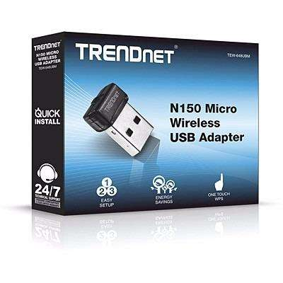 MICRO ADAPTADOR USB WIRELESS N150 TRENDNET TEW648UBM 150Mbps