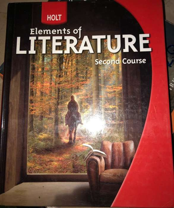 Holt Elements Of Literature Book