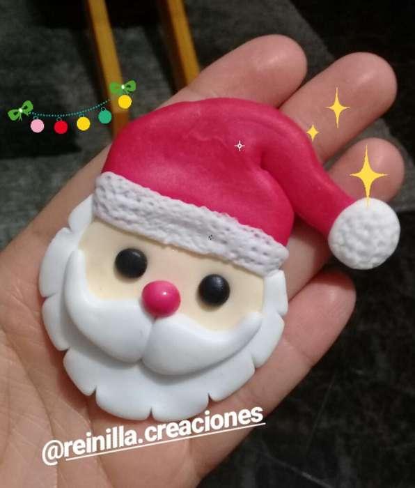 Apliques de Navidad en Porcelana Fria