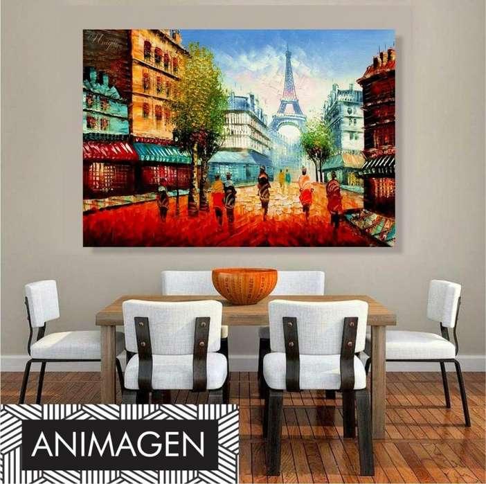 Cuadro decorativo de ciudad parisina 4194