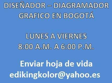 Diseñador - diagramador gráfico Bogotá