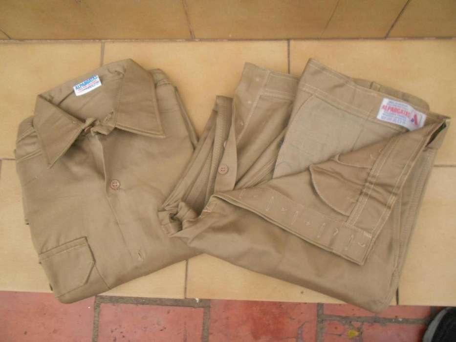 Ropa de trabajo-2 pantalones y 1 camisa -Marca Alpargata