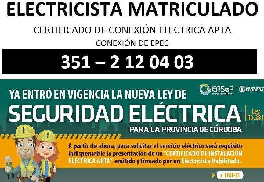 Electricista Matriculado 3512120403