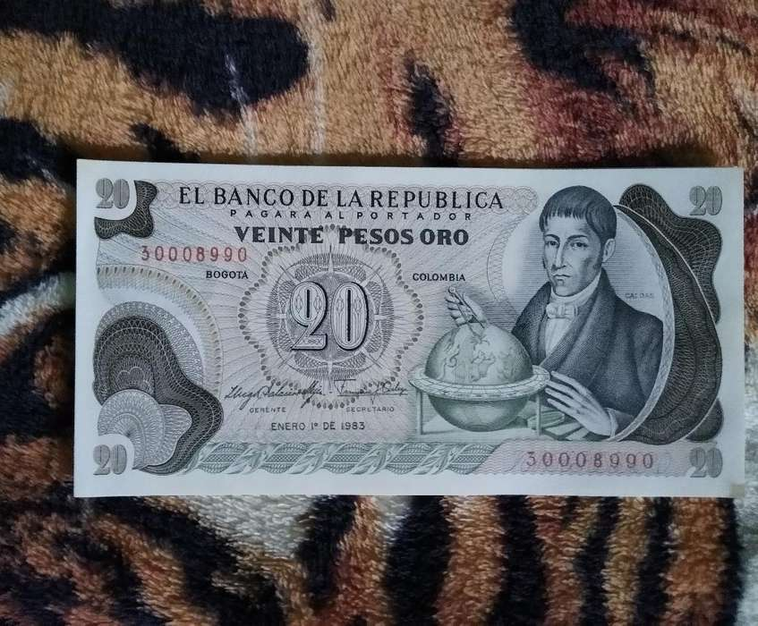 Vendo Billete de 20 Pesos