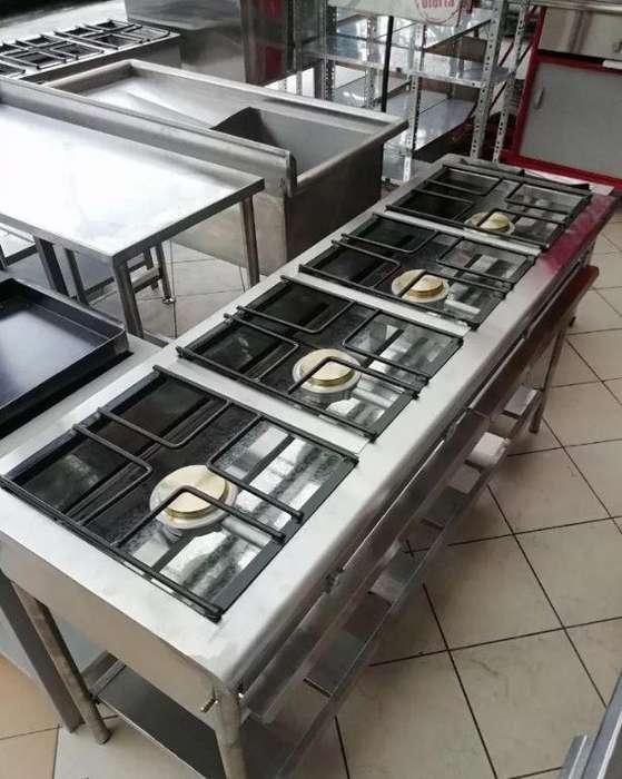 <strong>cocina</strong> de 4 Quemadores Acero Industrial
