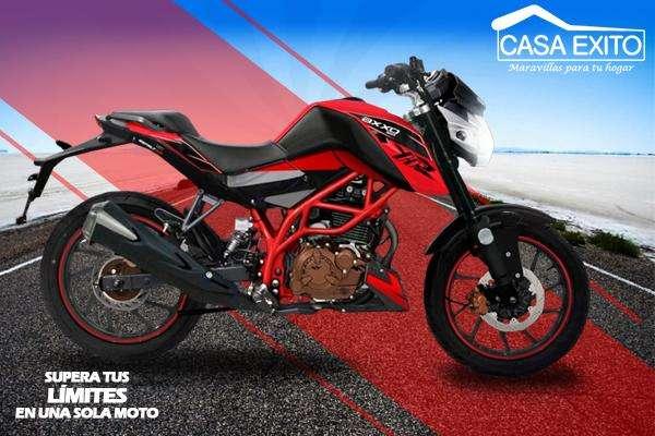 Moto Axxo Asfalt 200 Año 2019 200cc Negro / Rojo Casa Éxito