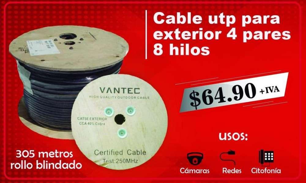 Cable utp cable de red ethernet para exterior rollo de cable 305 m redes cable elctrico gemelo flexible