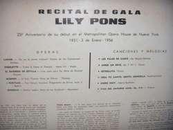 Disco De Vinilo L P Lily Pons Recital De Gala