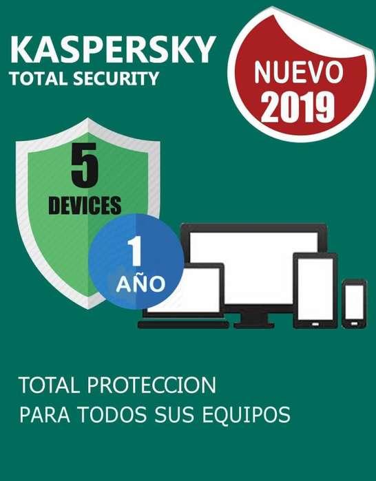 Kaspersky Total Security 5 Pc 1 Año.