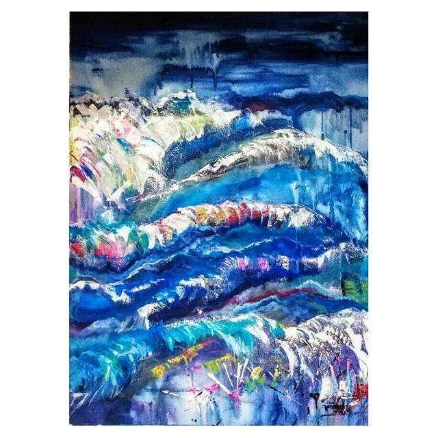 Cuadro de olas