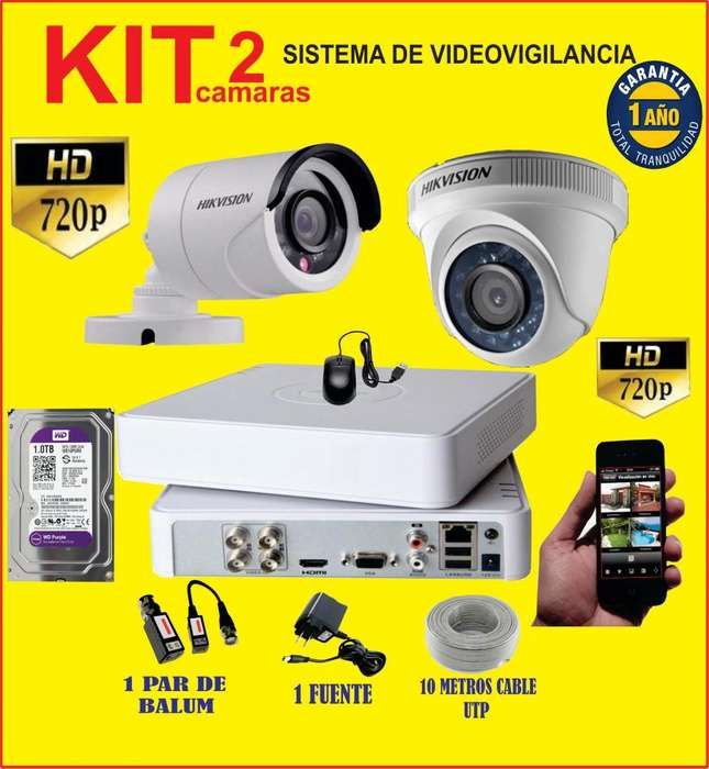 kit de camaras en hd 720P mas pantalla 32
