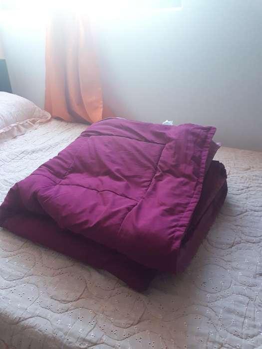 Cobertor Vino Tinto Doble Fax