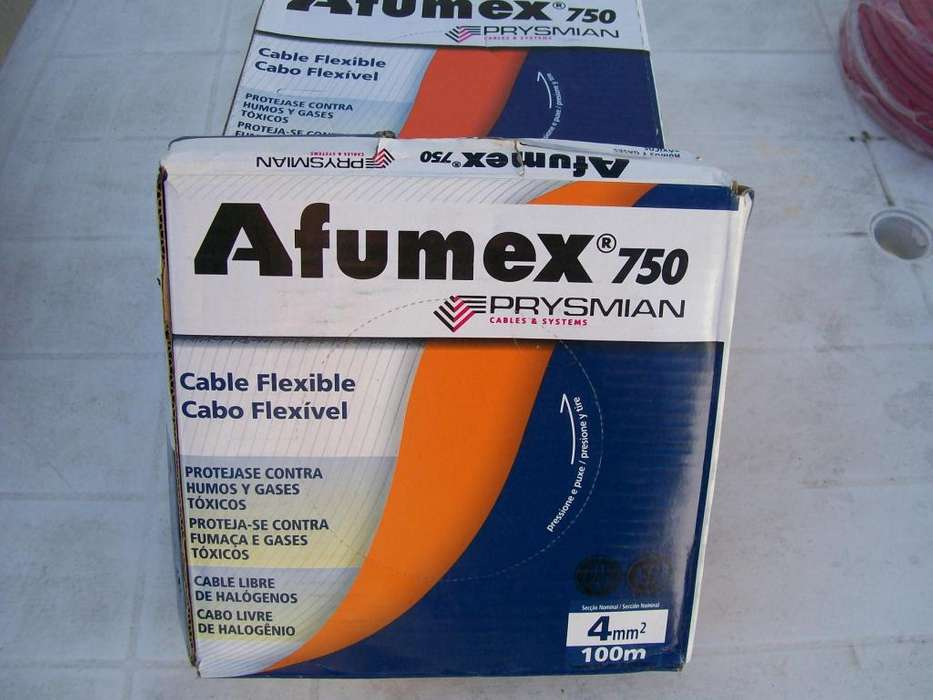 CABLE DE 4 mm2 AFUMEX 750 Prysmian rollo de 100 mts.