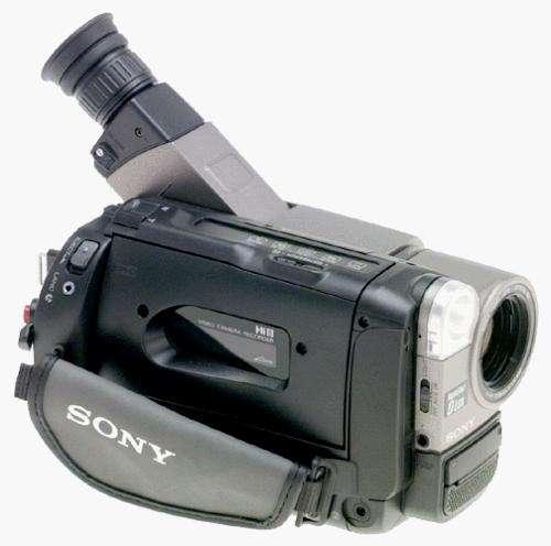 camara sony con cinta 8mm con reflector de luz remato