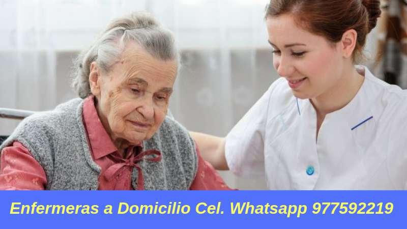 Enfermeras a Domicilio medio turno, turno completo y por días