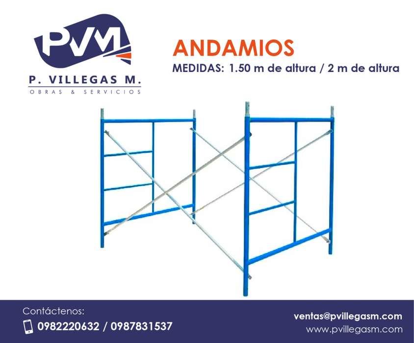 ANDAMIOS DE 1.50 mts y 2 mts de altura