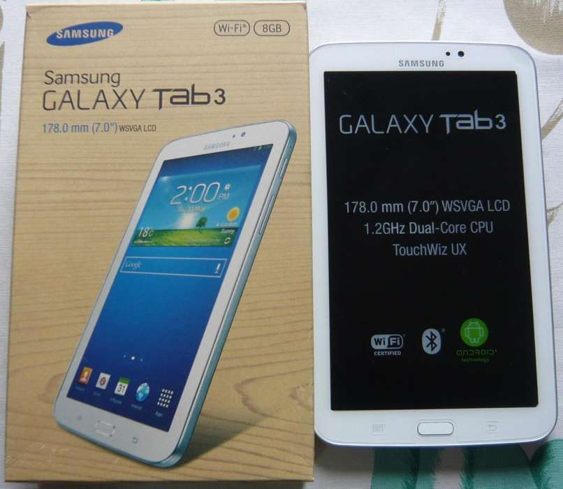SAMSUNG GALAXY TAB3 NUEVA, 7 PULG, Wifi, <strong>bluetooth</strong>, 8Gb Exp.64