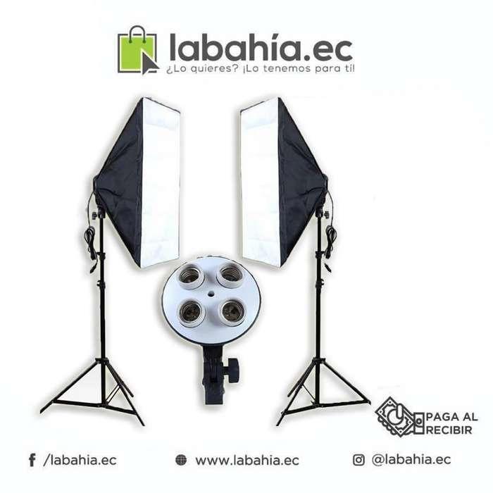 kit de luces profesional para fotografía fotos