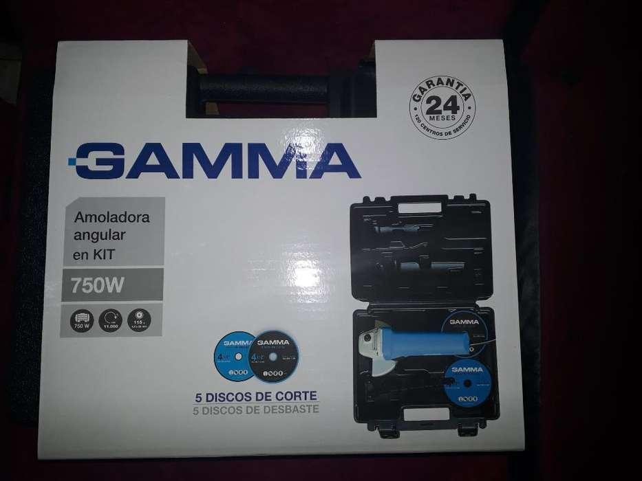Amoladora en Kit Gamma 750w