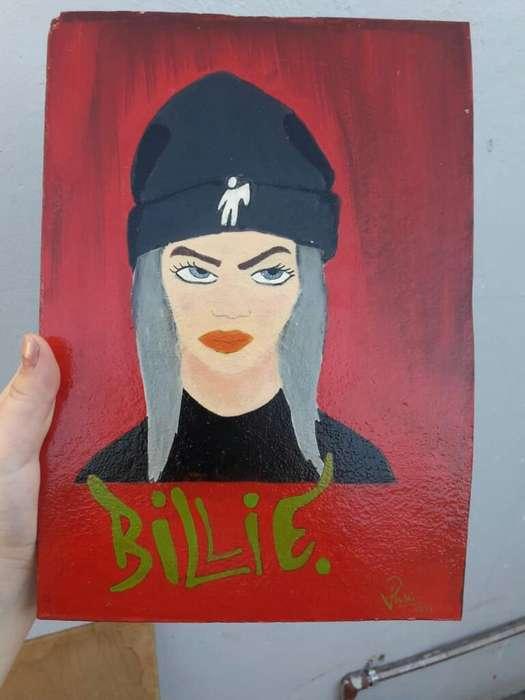 Cuadro Artesanal Billie Eilish.