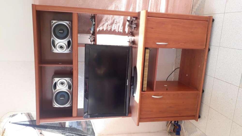 Multimueble tv y sonido biblioteca