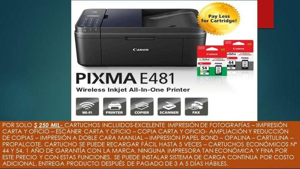 Impresora oficio Canon Pixma E481 buen estado