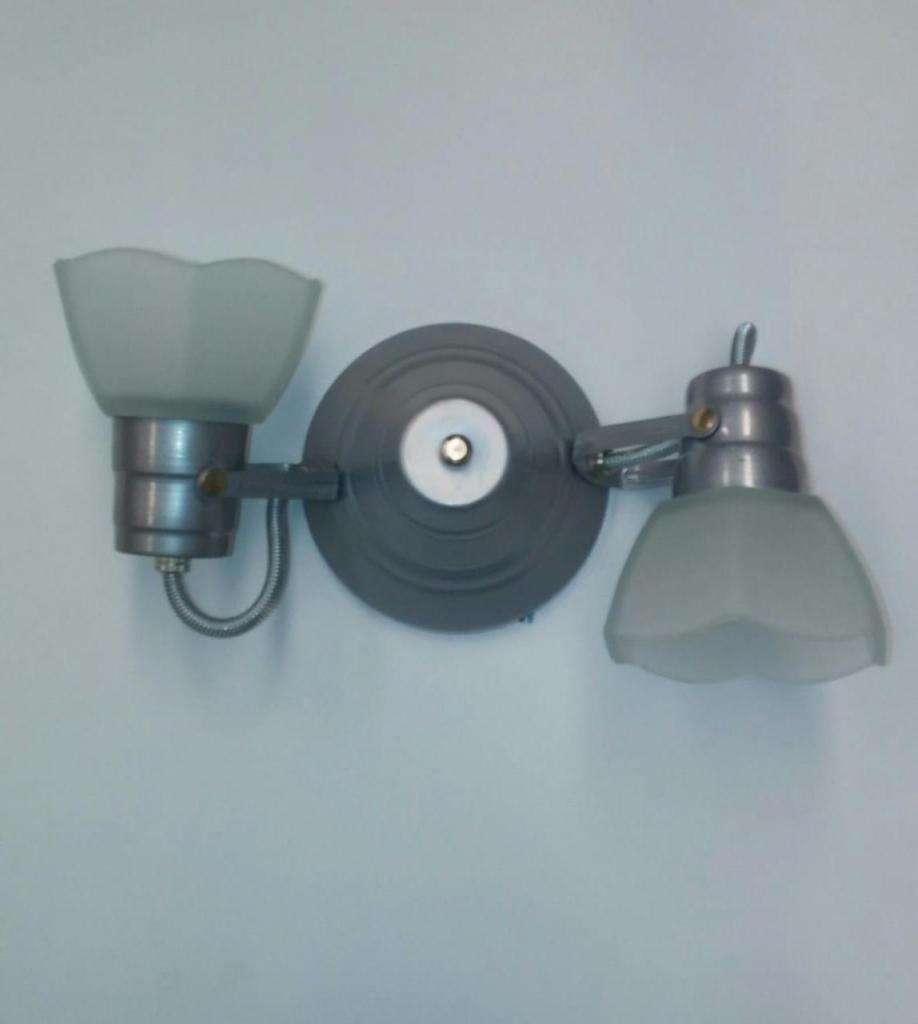 spot de 2 luces Vidrio para ventilador de techo