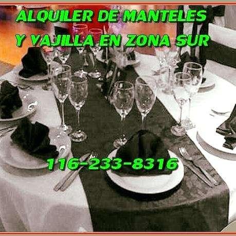 MANTELERIA VAJILLA AMBIENTACION PARA EVENTOS QUILMES WILDE 1162338316