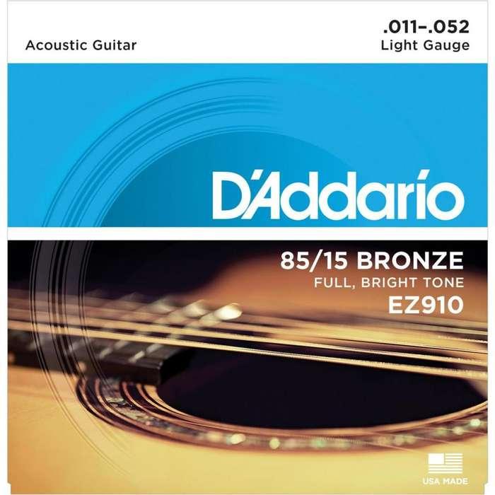 D'addario Cuerdas Acustica Metal Calibre 1152 Originales!!